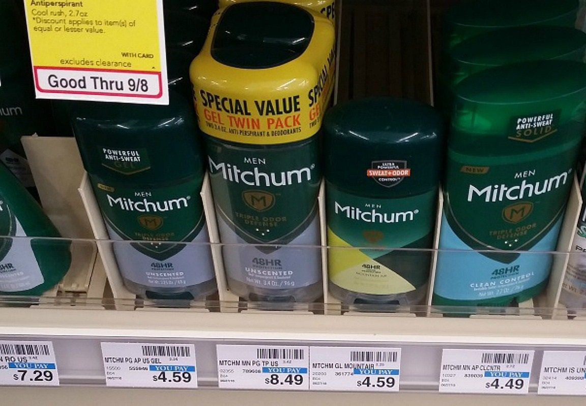 mitchum solid deodorant at CVS