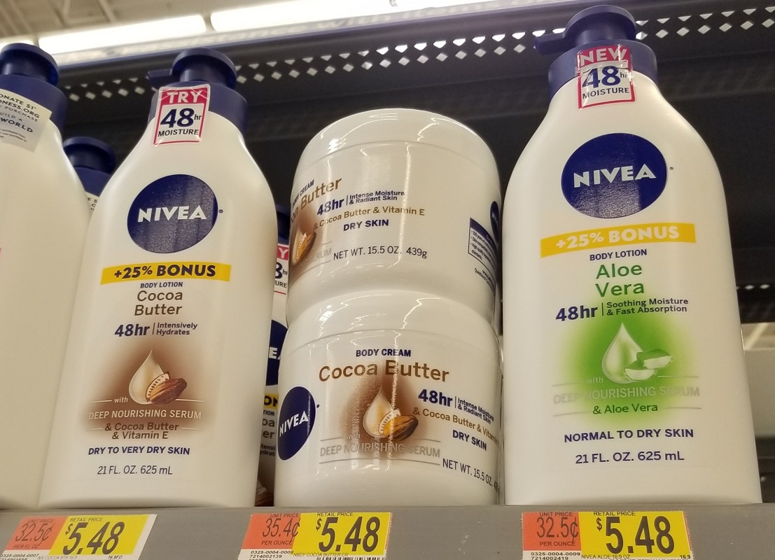 nivea body lotion at Walmart