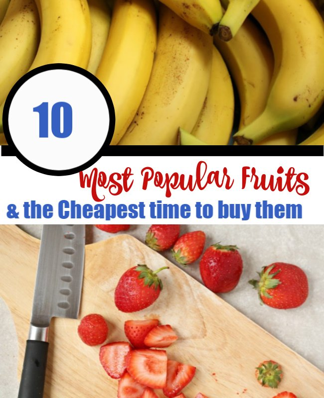 10 Most Popular fruits & when to buy them ....