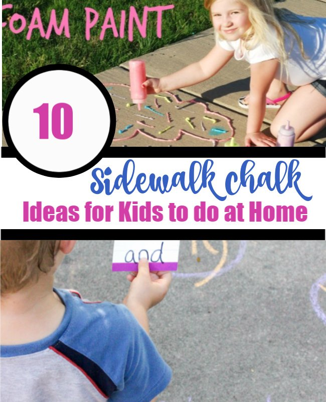 10 sidewalk chalk ideas for kids to do at home