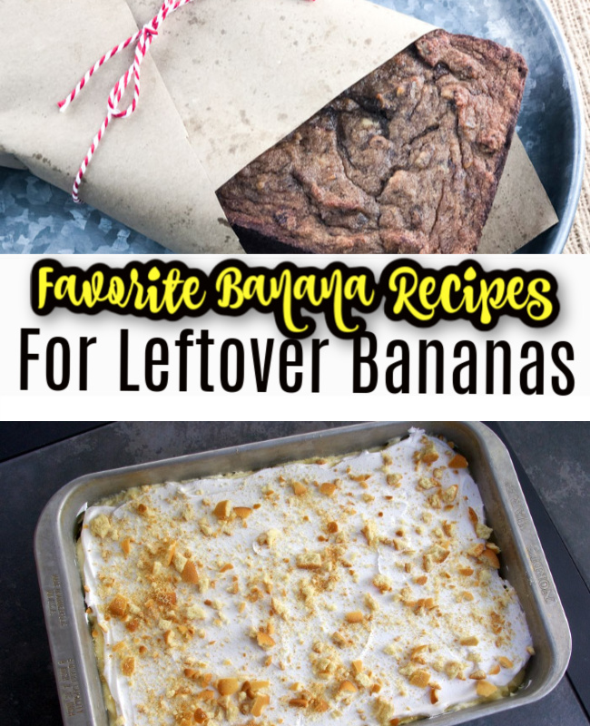 Favorite Banana Recipes for Leftover Bananas