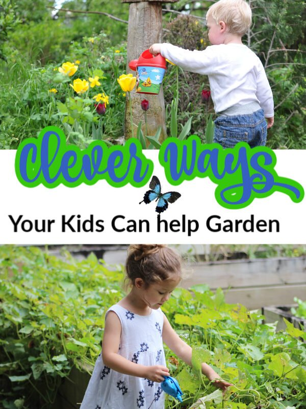 clever ways your kids can help in the garden