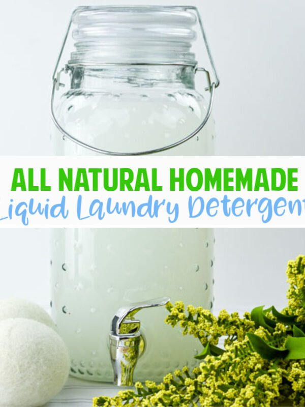 Homemade  Liquid Laundry Detergent with Essential Oils
