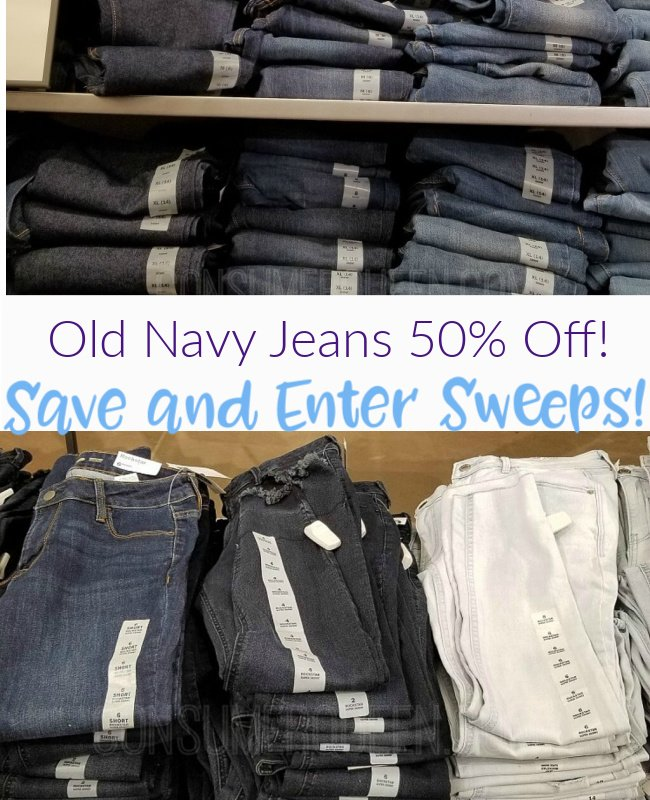 Old Navy Jeans Sale and Sweeps