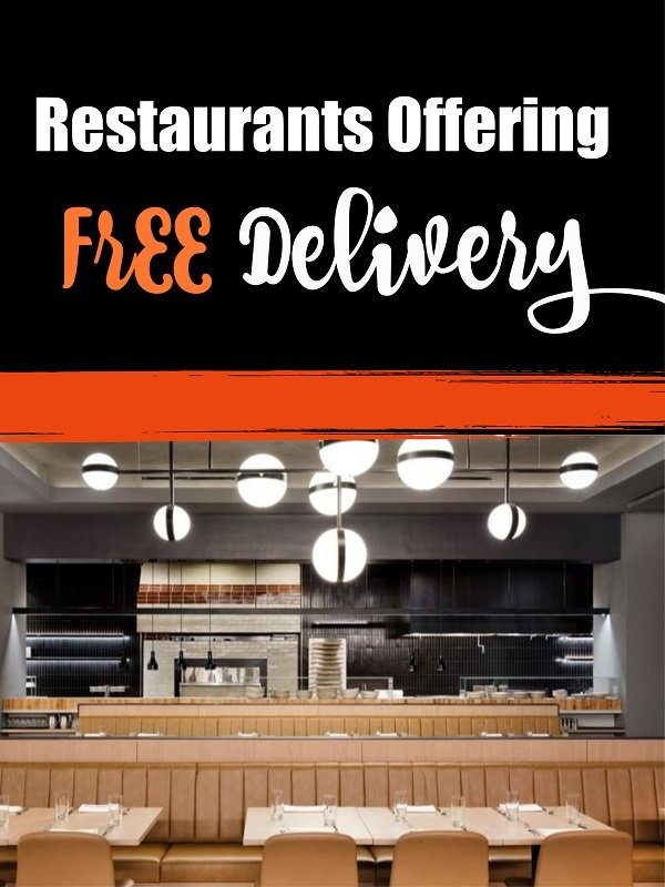 restaurants offering free delivery