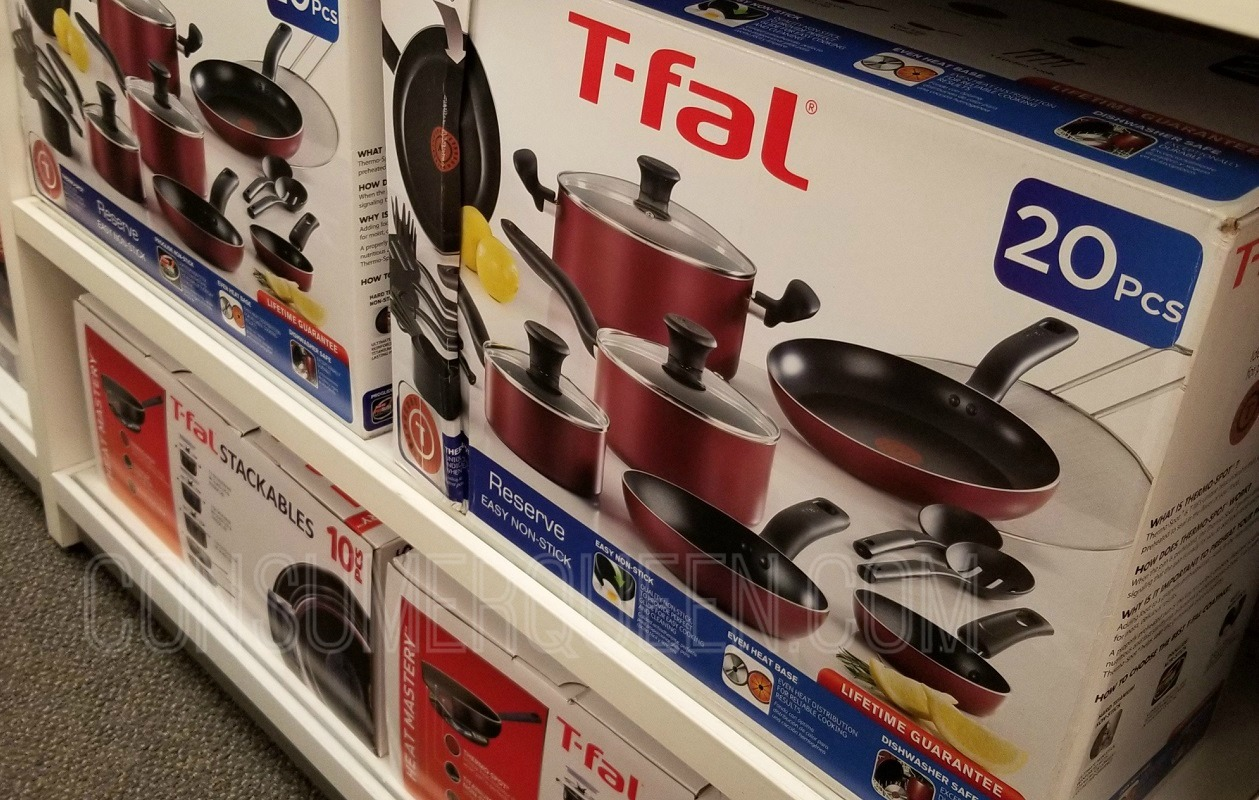 T-Fal 20 piece cookware