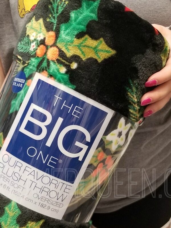 the big one supersoft christmas plush throw