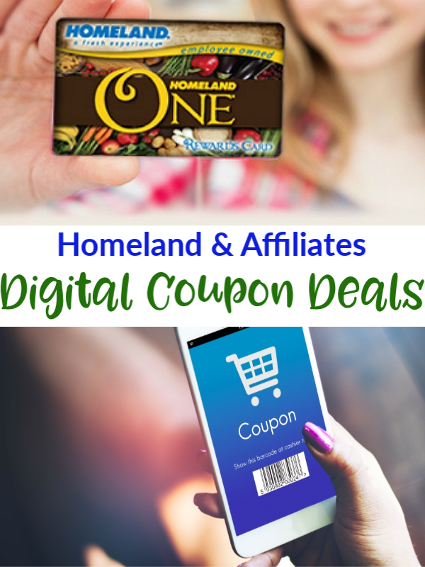 Digital Coupon Deals at Homeland & AffiliatesThis Week