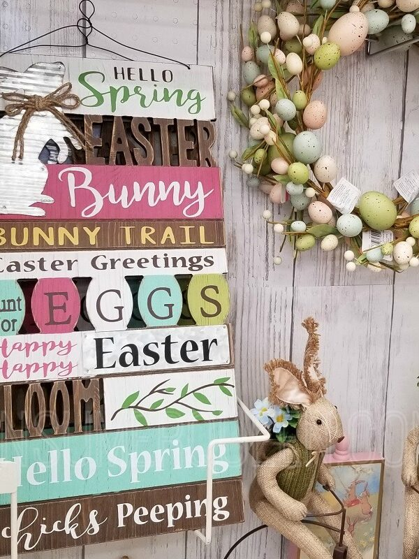 easter decor at Michaels