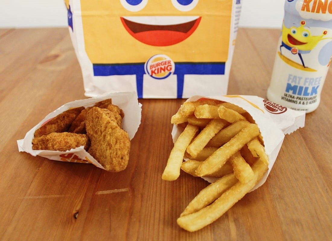 free kids meals at burger king