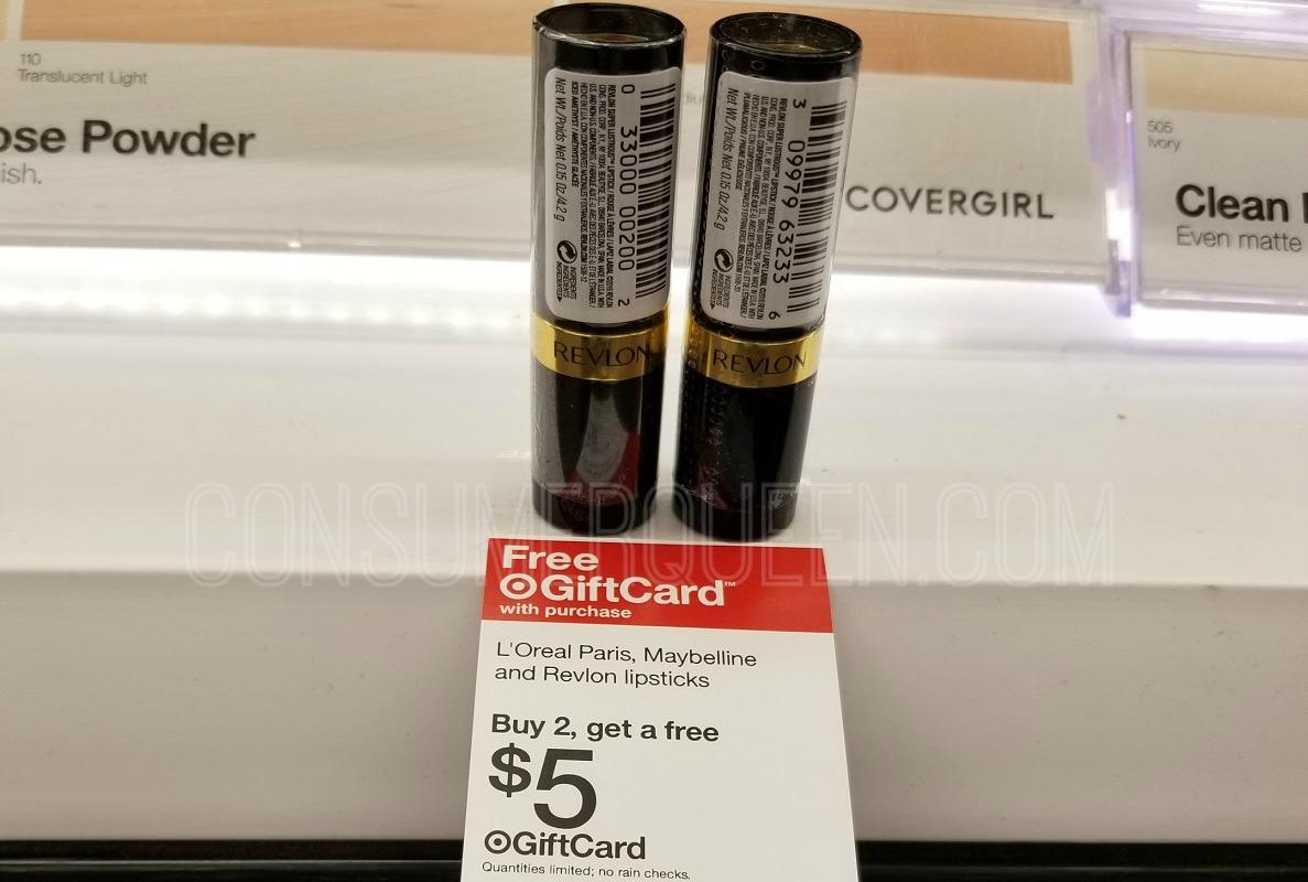 FREE Revlon Lip Color at Target After Gift Card (Reg. $4.99!)