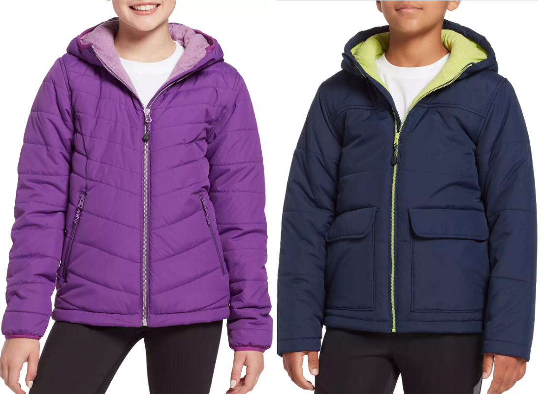 kids insulated jackets at Dicks