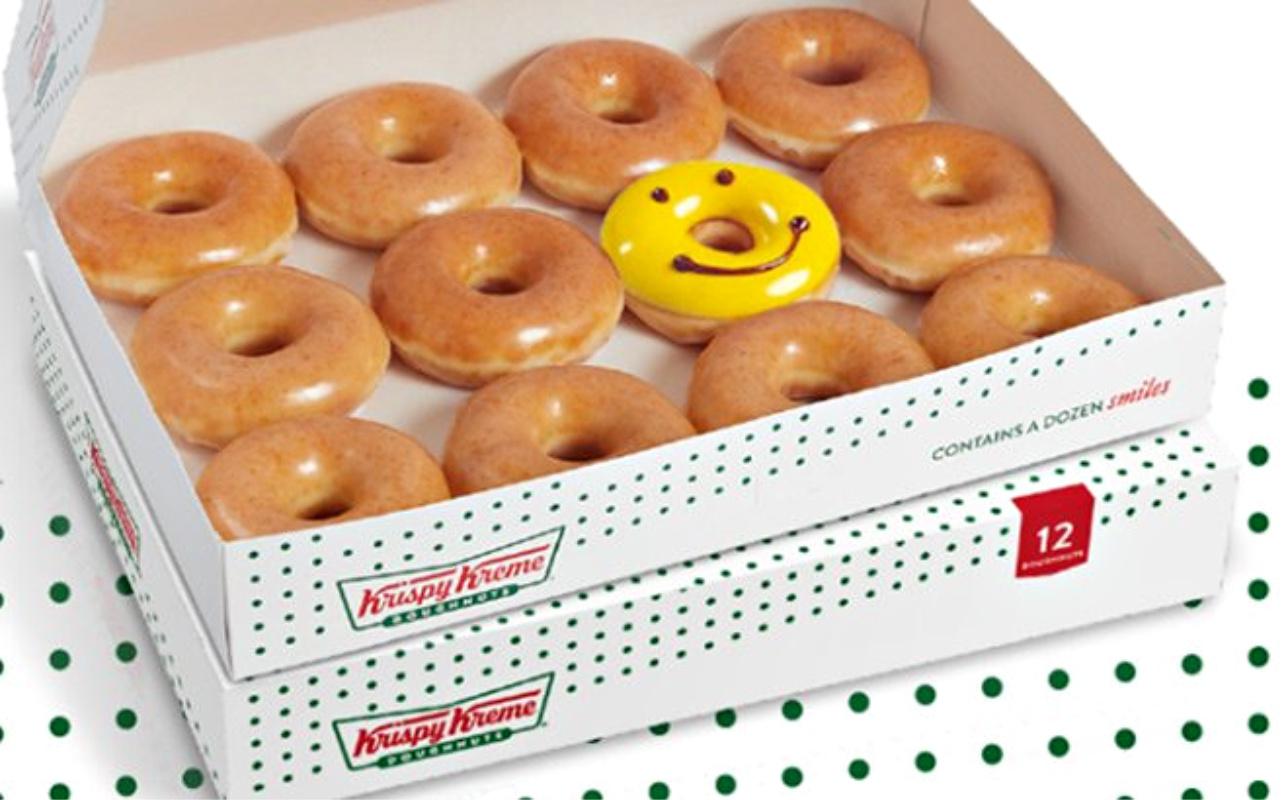 free dozen krispy keme doughnuts