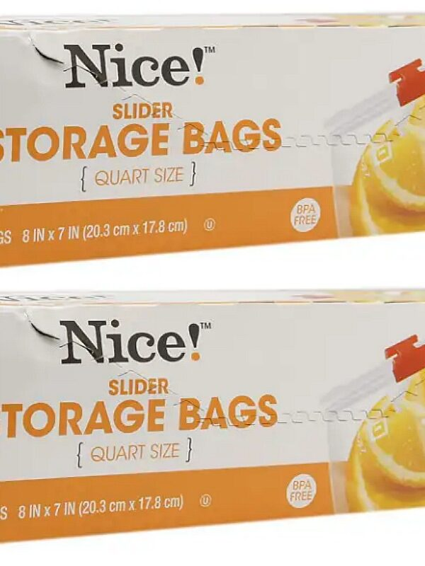 Nice! Quart Slider Storage Bags ONLY 93¢ at Walgreens + FREE Shipping!