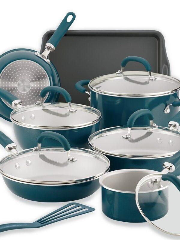 rachael ray 13 piece nonstick cookware