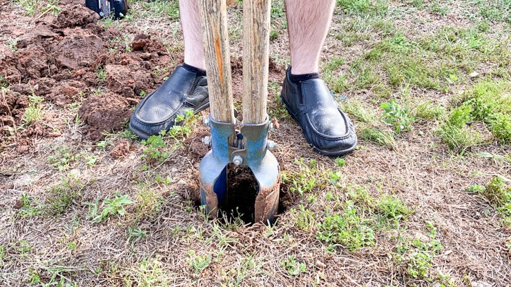 Digging holes for posts