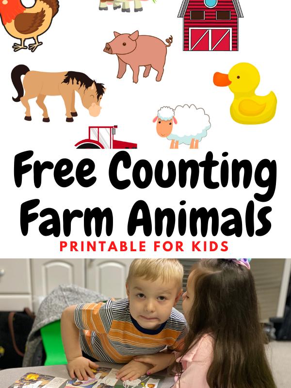 Free Counting Farm Animals Printable