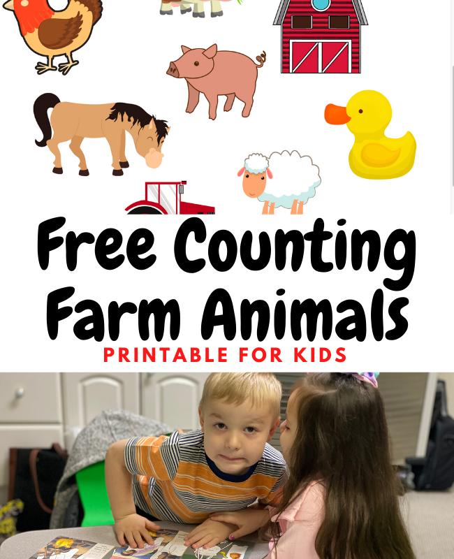 Free Preschool Worksheets: Counting Farm Animals Printable