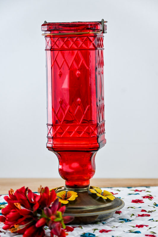 fill hummingbird feeder