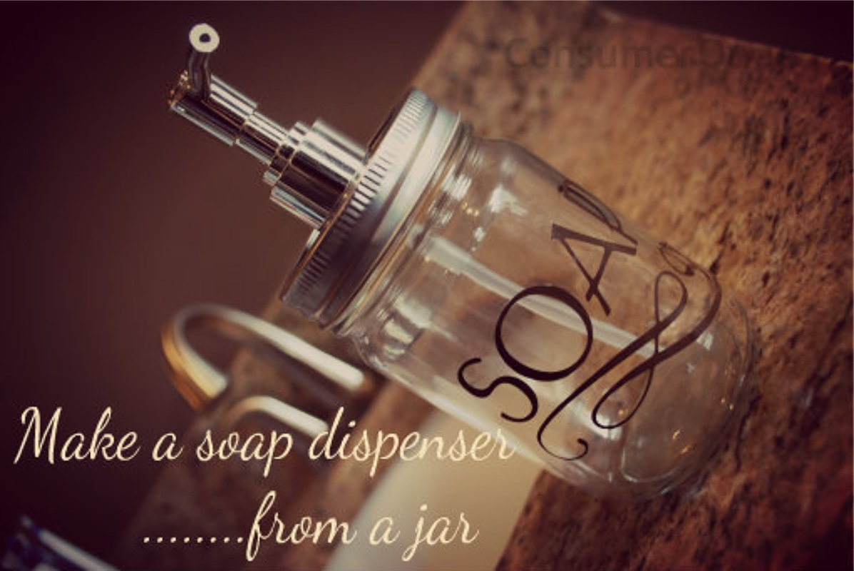 Make a Trendy Soap Dispenser From an Old Jar!