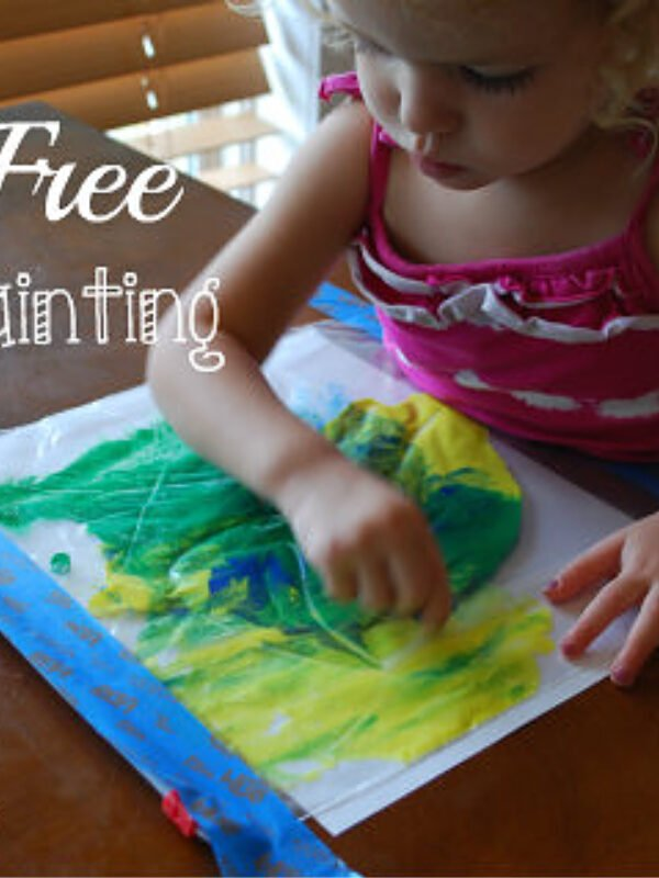 Mess Free Finger Painting – Ingenious Idea!