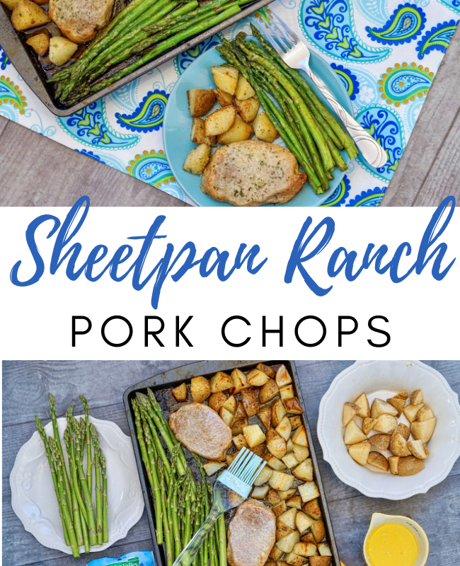 Sheet Pan Ranch Pork Chops