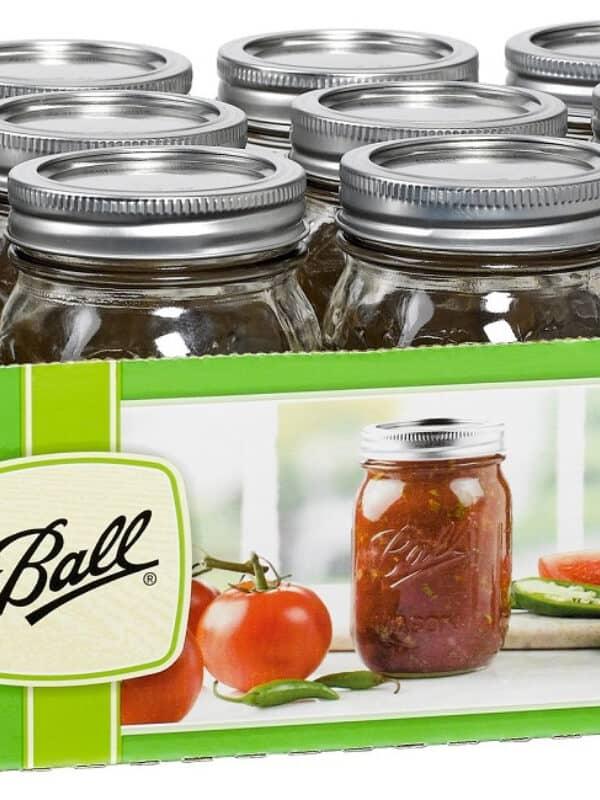ball pint mason jars