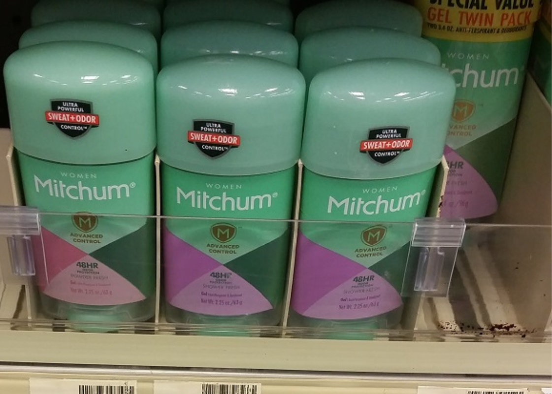 This is an image of Crafty Mitchum Deodorant Printable Coupon