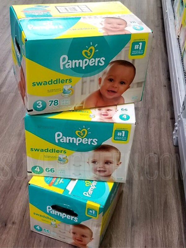 Pampers Super Pack Diapers ONLY $19.99 Per Box After Gift Card – Ships FREE!