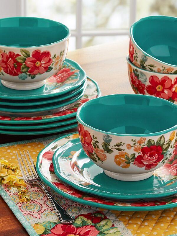 pioneer woman 12 piece dinnerware