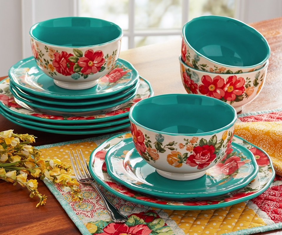 The Pioneer Woman 12 Piece Dinnerware as Low as $36.99 – Ships Free (Reg. up to $50!)