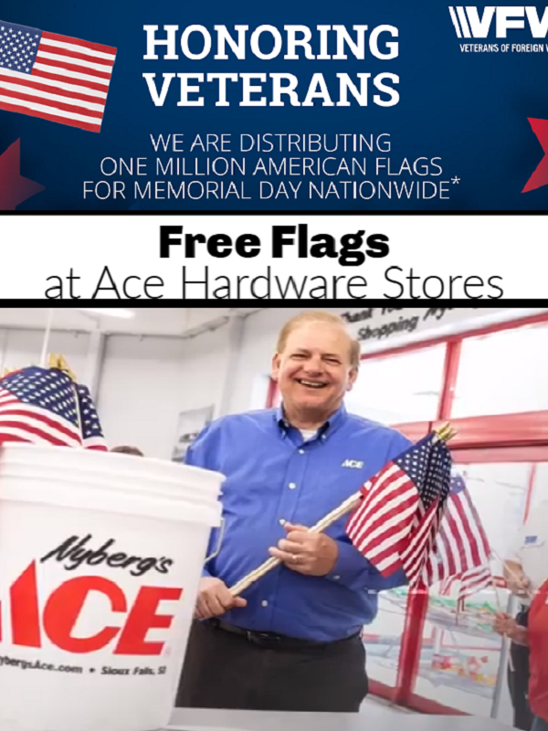 Free American Flags at Ace Hardware