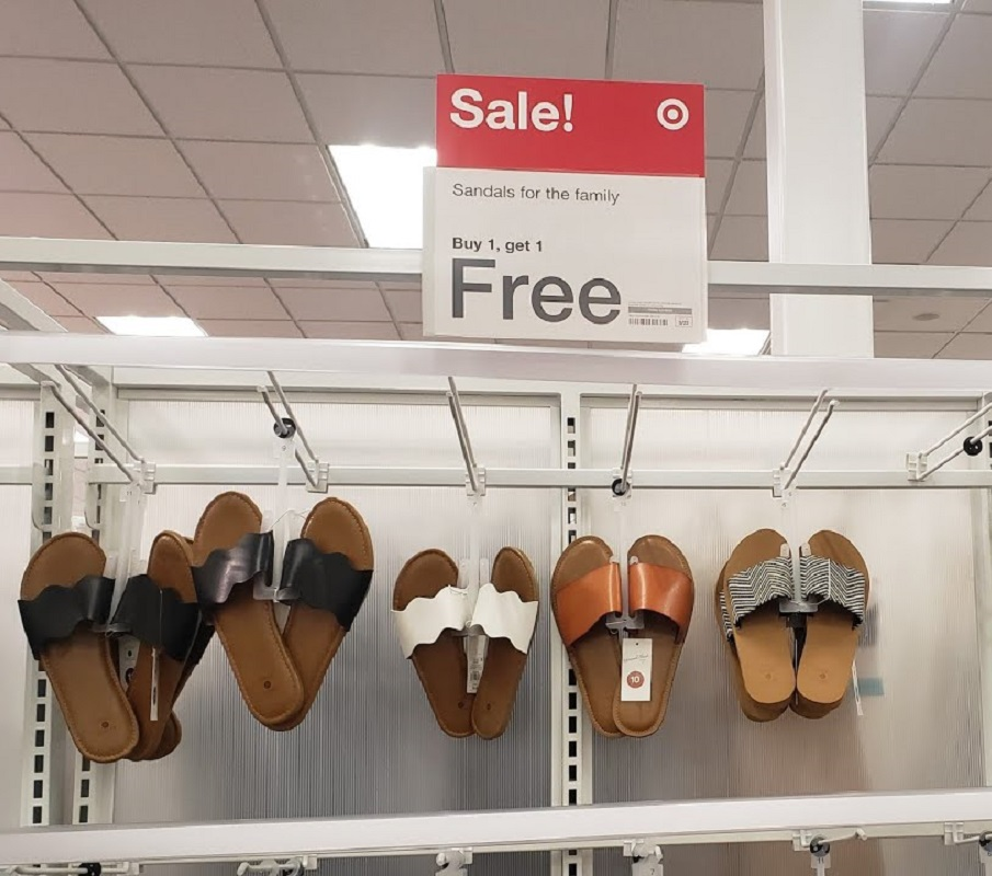 BOGO Free Sandals for the Family at Target – as Low as $2!