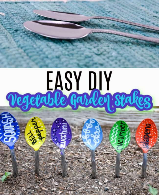 DIY Garden Stakes with Spoons