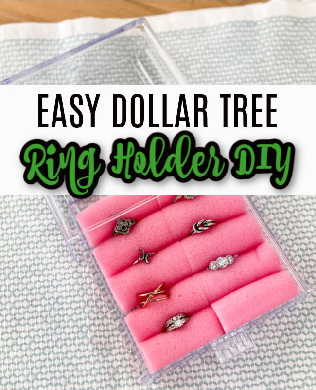 easy diy dollar tree ring holder diy