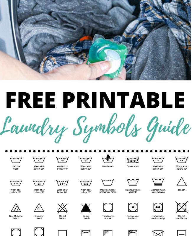 Printable Laundry Symbols