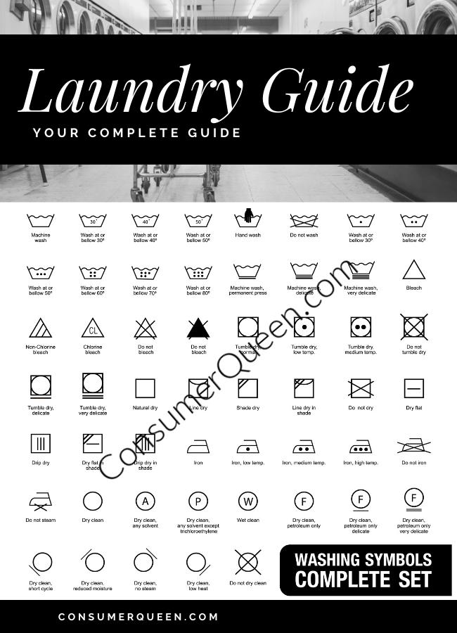 Printable Laundry Symbols Guide