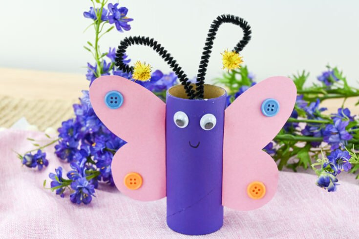DIY Toilet Paper Roll Butterfly Craft