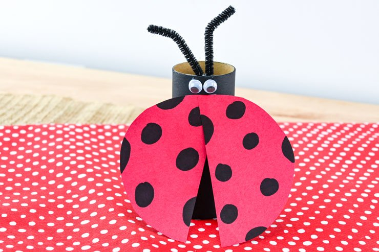 Toilet Paper Roll Lady Bug Finished!