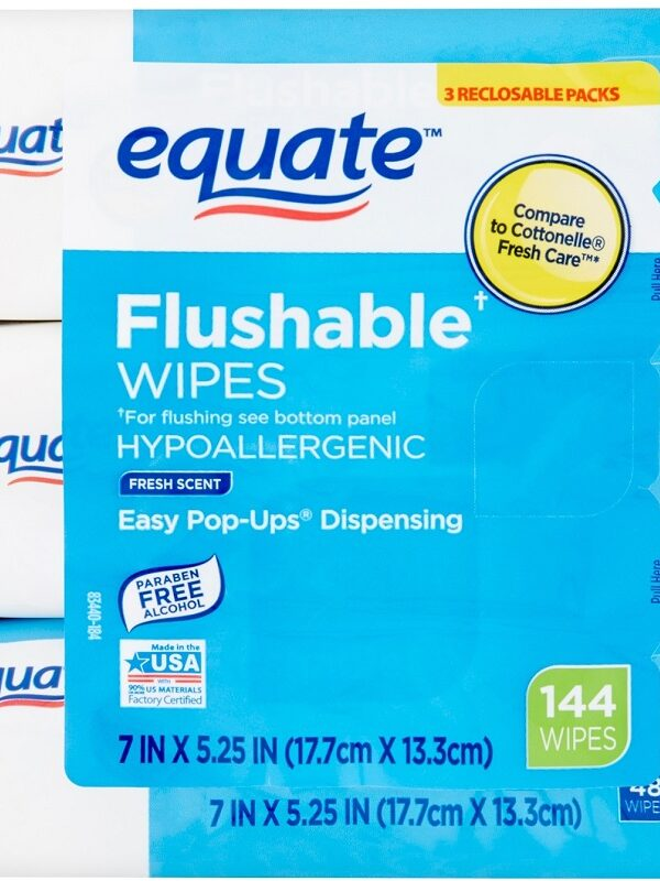Flushable Wipes Back In Stock