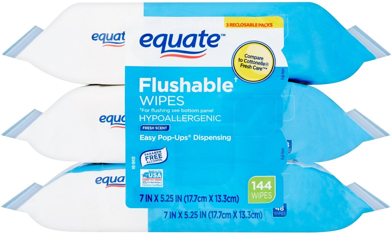 Flushable Wipes Back in Stock at Walmart – 3 Pack for Under $4!
