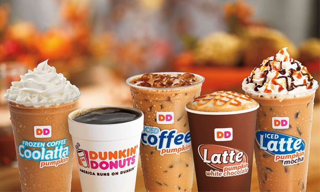 free drink from Dunkin' with purchase