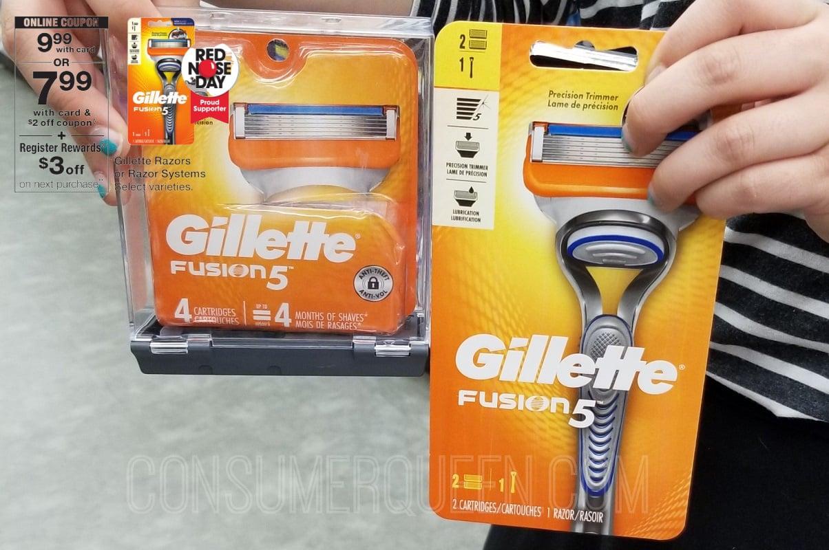 Gillette Razor + Refill 70% Off at Walgreens After Rewards!