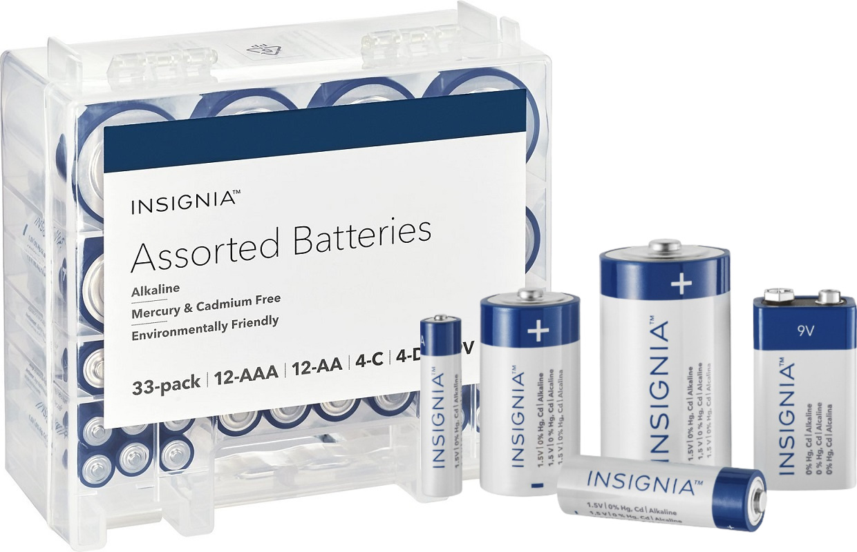Insignia Assorted Batteries 33 Pack $11.99 (Reg. $20) – Today Only *EXPIRED*
