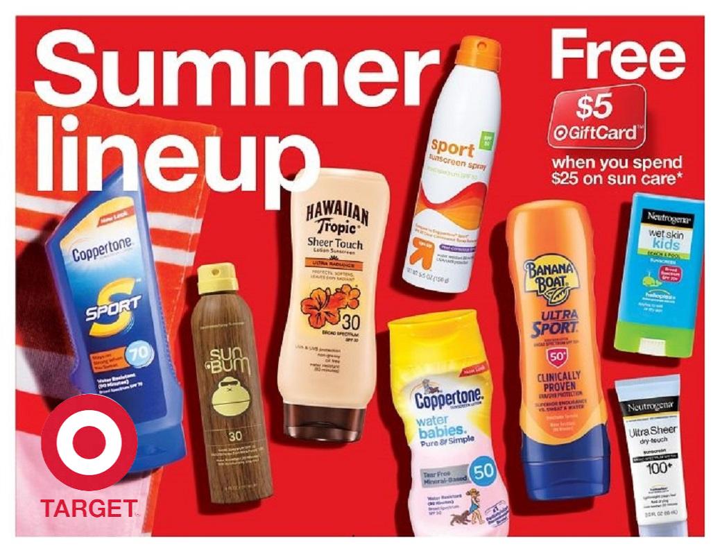 Sun Screen as Low as $3.24 at Target