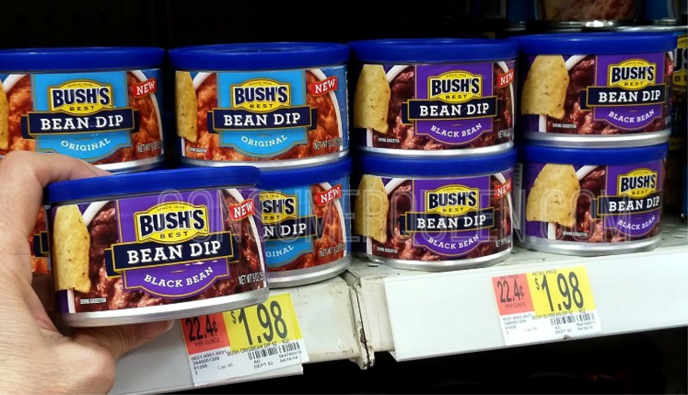 Bush's Bean Dip Only 98¢ at Walmart After Cash Back