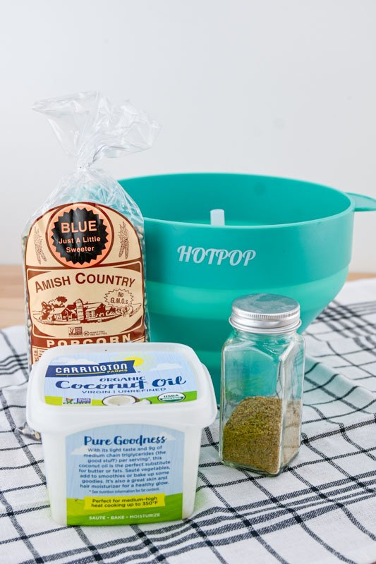 Dill Pickle Popcorn ingredients to make at home