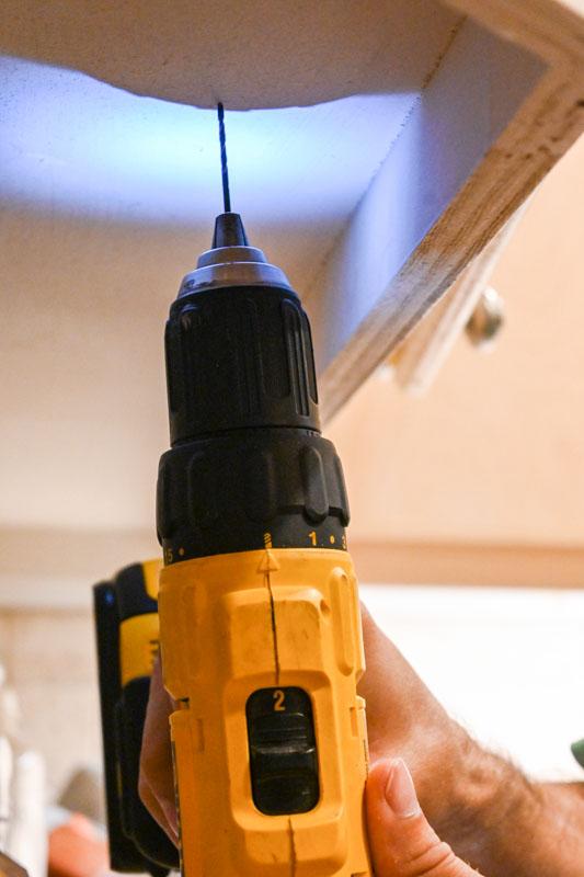 Under Cabinet Lighting by JASCO :Drilling Pilot Holes