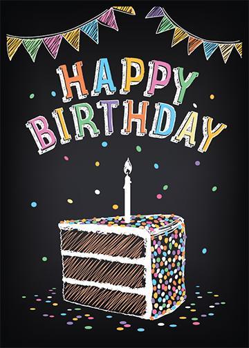 Black Happy Birthday Door Cover Banner