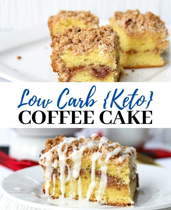 Low Carb Coffee Cake  {Keto Friendly}